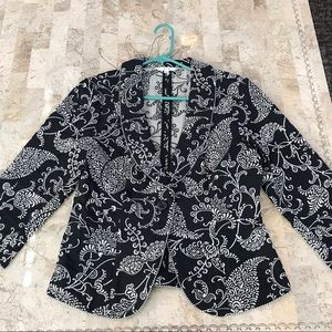 CAbi Eliza embroidered jacket size 8
